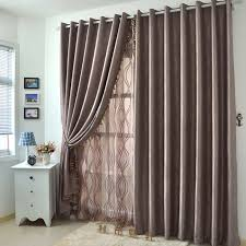 Big Window Curtains 2 Panels Big Window Curtains Present In Coffee Color