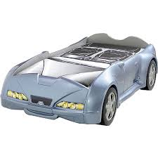 Kid Car Bed Roadster Car Bed In Silver And Luxury Kid Furnishings Including
