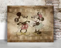 Mickey Home Decor Mickey And Minnie Etsy