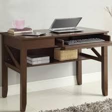 Teak Computer Desk Shop Hawkins Solid Wooden Computer Desk Teak Finish From