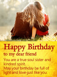 Light And Day You Are A True Soul Sister Happy Birthday Wishes Card For