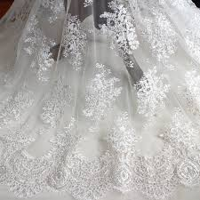 wedding dress material aliexpress buy eyelashes lace sequins embroidery lace