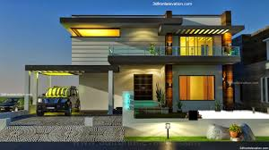Contemporary Housing 3d Front Elevation Com 2 2 Kanal Dha Karachi Modern Contemporary
