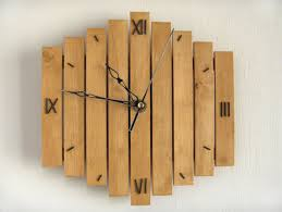 wall designs wooden wall digits numbers wall clock