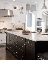 Small Kitchen Appliances Garage With Tiled Backsplash by Pictures Of White Kitchen Cabinets Kitchen Traditional With