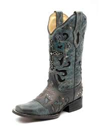 womens boots blue corral boots for in blue jean with metal cross