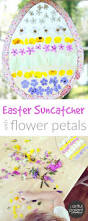 easter egg suncatcher craft beautiful with flower petals