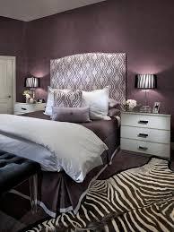 purple and grey bedroom