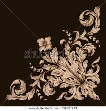 gold vintage baroque ornament retro pattern stock vector 556881733