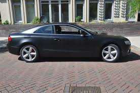 cool wrapped cars black matte audi a5 justin pate