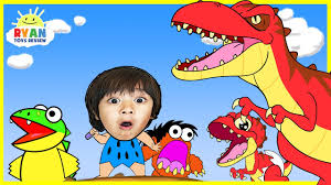 dinosaur cartoons children ryan toysreview rescue baby rex
