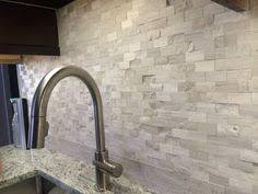 Natural Stone Backsplash Tile by Travertine Mosaic Backsplash Tile With White Cabinet Google