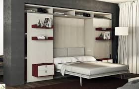bedroom furniture fold down double bed murphy bed with shelves