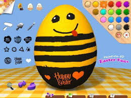 painted easter eggs paint on 3d easter eggs best apps for kids