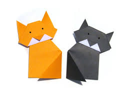halloween easy origami cat easy tutorial how to make an