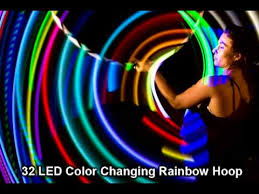 helix led hoop 32 led glow hula hoop demo by trick concepts