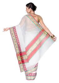Buy Green Plain Cotton Silk Buy White Plain Cotton Silk Saree With Blouse Online