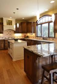 interior cozy design for u shape kitchen decoration using