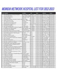hospital list march 92012 documents