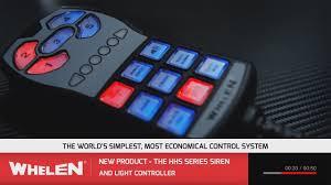 whelen siren light controller whelen hhs3200 youtube