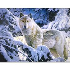 wolf 3d print home decor picture lone gray wolf in snowy winter