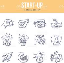 doodle start startup doodle icons stock vector 604869048 istock