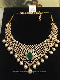 indian necklace set images Designer indian diamond necklace set south india jewels jpg