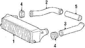 1988 porsche 944 parts parts com porsche 944 intercooler oem parts