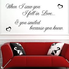 when i saw you i fell in love wall sticker decals when i saw you i fell in love wall sticker decals