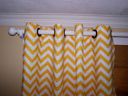 Yellow And Gray Wall Decor by Wall Decor Yellow And White Chevron Curtains With Black Ring