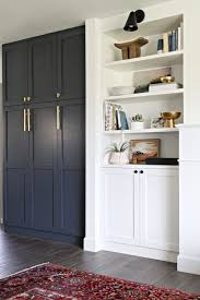 paint color is cyberspace by sherwin williams built in pantry