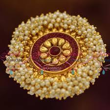 h7821 gold kemp pearl danglers gold design jadabilla hair