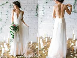 flowy wedding dresses ivory chiffon wedding dresses flowy spaghetti