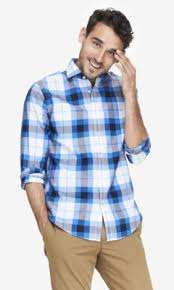 express fitted large plaid non iron dress shirt where to buy