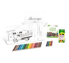 amazon com crayola color escapes coloring pages u0026 pencil kit