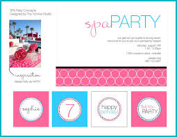 spa birthday party invitations u2013 gangcraft net