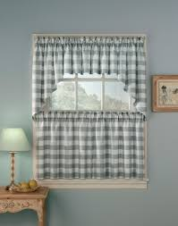Walmart Navy Blue Curtains by Brown Plaid Kitchen Curtains Home Design And Decoration