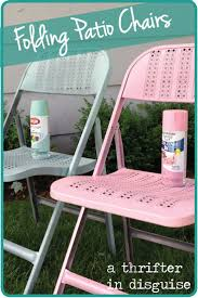 Painting Metal Patio Furniture - 102 best metal folding chairs images on pinterest folding chairs