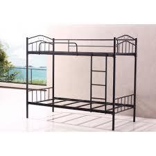 Sturdy Metal Bunk Beds Brand New Sturdy Black Single Metal Bunk Bed Heavy Duty Frame Quidin