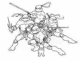 nick teenage mutant ninja turtles coloring pages