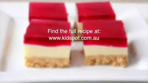 how to make a christmas jelly slice recipe youtube