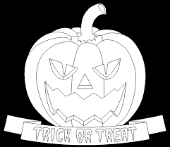 trick or treat halloween pumpkin free online coloring page