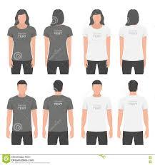 men and women t shirt design template stock vector image 72350523