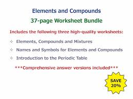 Mixture Word Problems Worksheet Elements Compounds And Mixtures Worksheet By