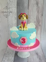 paw patrol skye cake by aurelia u0027s cake cakesdecor