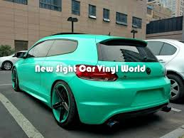 high quality tiffany blue glossy vinyl car wrap roll air release
