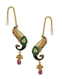 kaan earrings golden kaan the best price in savemoney es