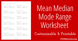 mean median mode worksheets pdf free worksheets library download