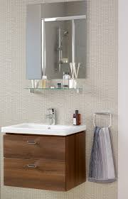 Loft Bathroom Ideas by Ideal Standard Concept Cube 60cm Wall Hung Vanity Unit Walnut
