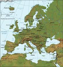 europe peninsulas map relief map of europe europe terrain map